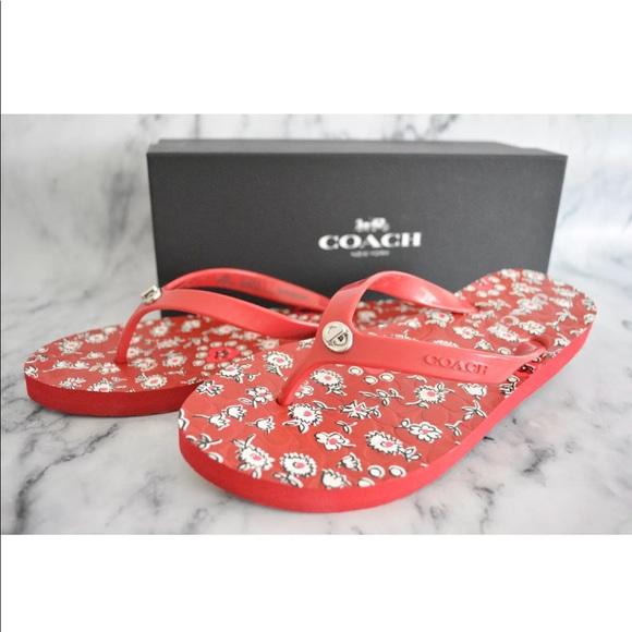 0b6f016a00b9 Coach Abbigail Floral Rubber Flip Flops Sandals